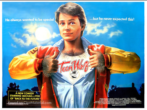 Teen Wolf - British Movie Poster