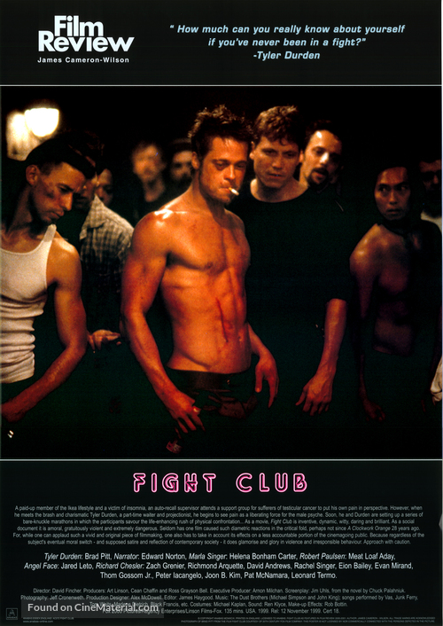 "essays on fight club Read fight club free essay and over 88,000 other research documents fight club ""you are not your job you are not how much you have in the bank you are not the contents."