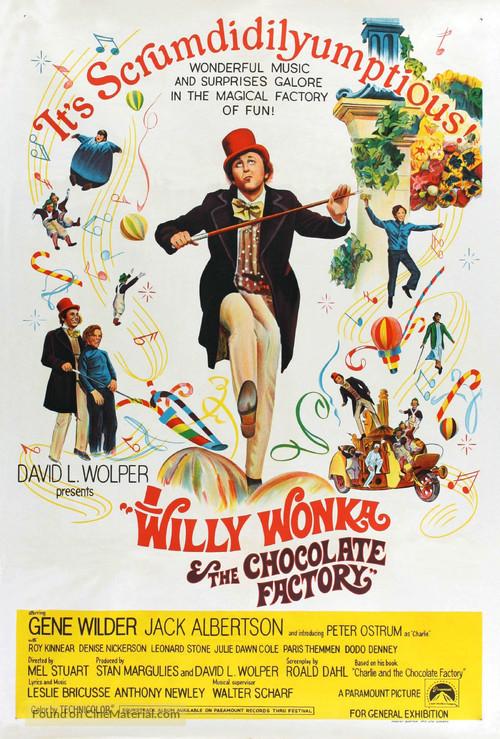 Willy Wonka & the Chocolate Factory - Australian Movie Poster