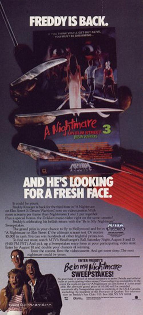 A Nightmare On Elm Street 3: Dream Warriors - Movie Poster