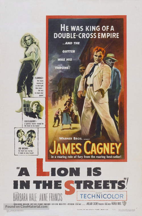 A Lion Is in the Streets - Movie Poster