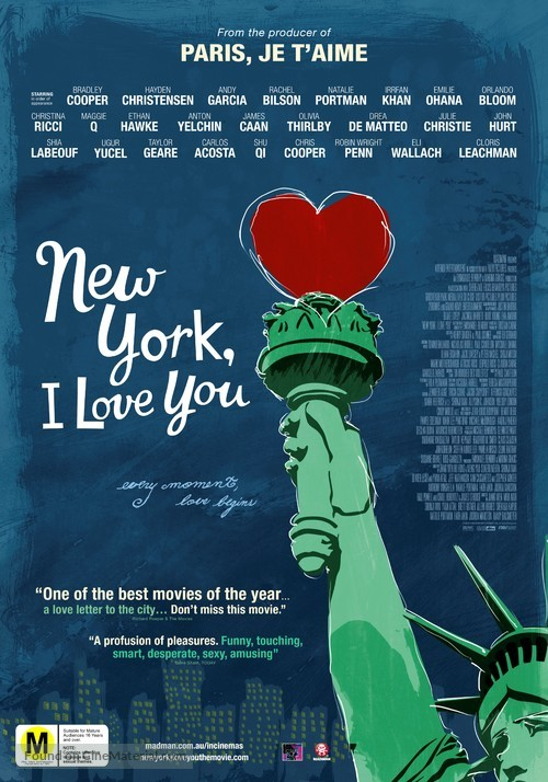 New York, I Love You - New Zealand Movie Poster