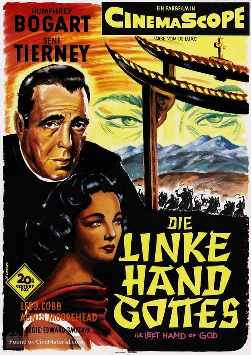 The Left Hand of God - German Movie Poster