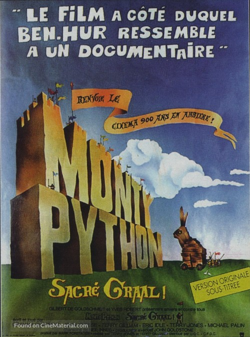 Monty Python and the Holy Grail - French Movie Poster