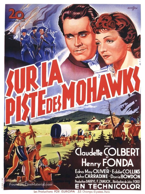 Drums Along the Mohawk - French Movie Poster