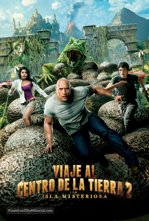 Journey 2: The Mysterious Island - Argentinian DVD movie cover