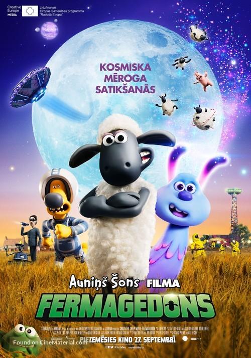 A Shaun the Sheep Movie: Farmageddon - Latvian Movie Poster