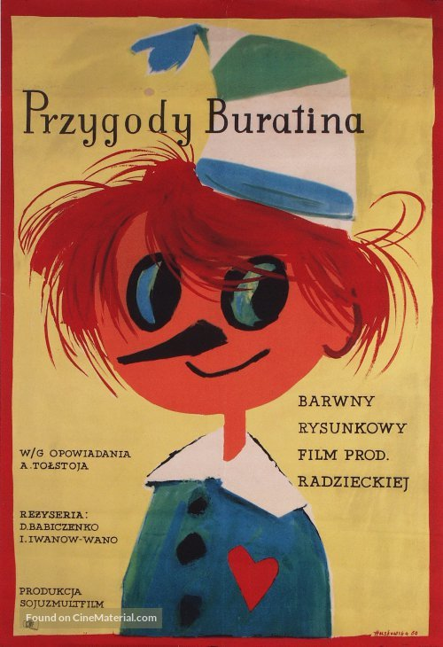 Priklyucheniya Buratino - Polish Movie Poster