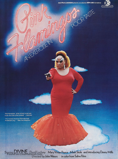 Pink Flamingos - French Movie Poster