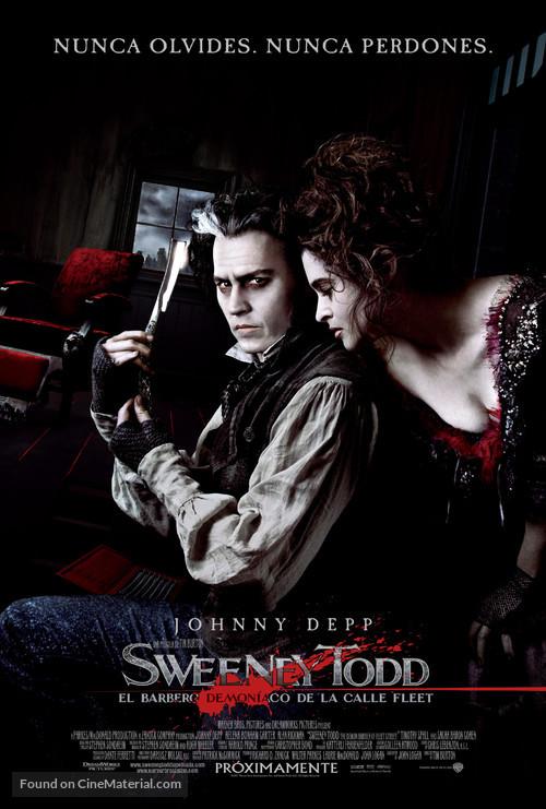Sweeney Todd: The Demon Barber of Fleet Street - Argentinian Movie Poster
