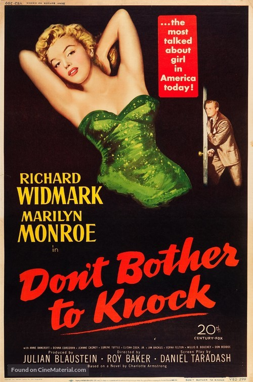 Don't Bother to Knock - Movie Poster