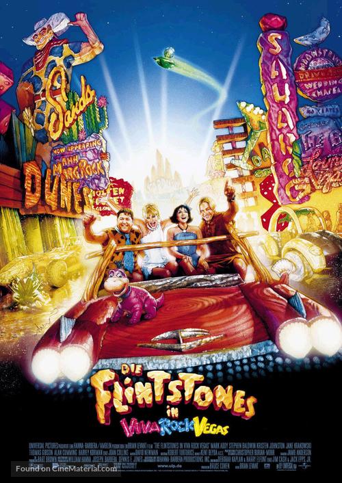 The Flintstones in Viva Rock Vegas - German Movie Poster