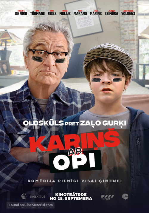 The War with Grandpa - Latvian Movie Poster