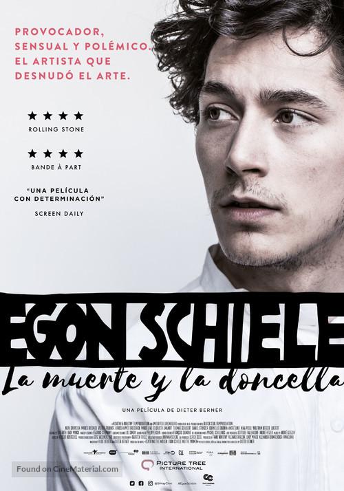 Egon Schiele: Tod und Mädchen - Colombian Movie Poster