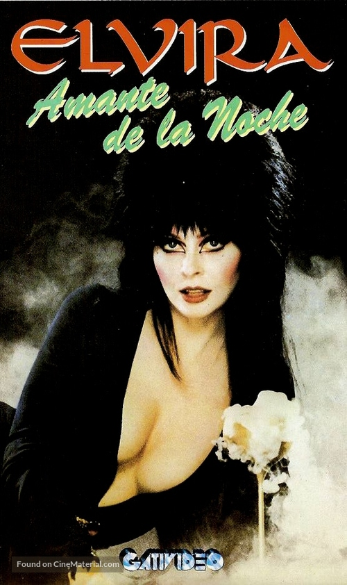 Elvira, Mistress of the Dark - Argentinian VHS cover