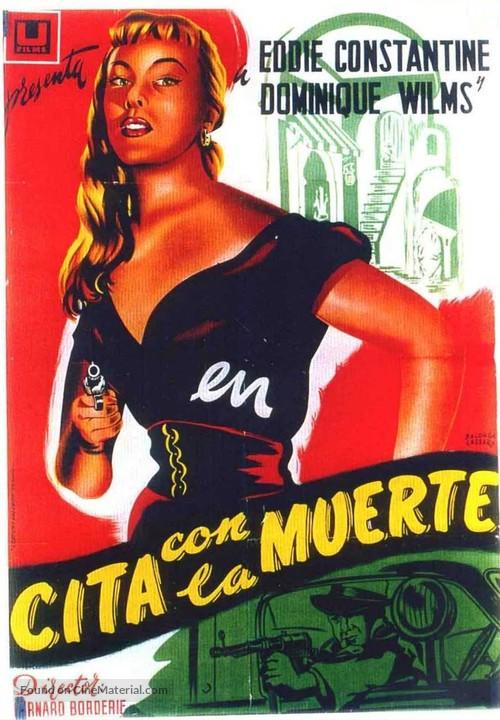 La môme vert de gris - Spanish Movie Poster
