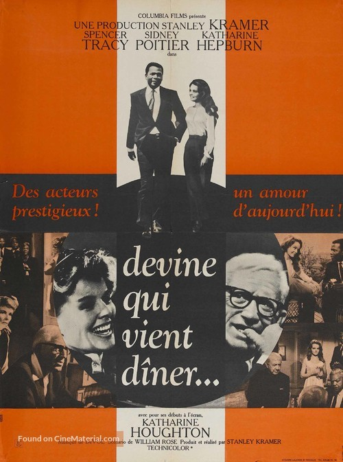 Guess Who's Coming to Dinner - French Movie Poster