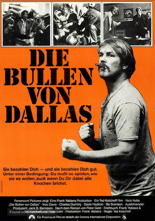 North Dallas Forty - German Movie Poster
