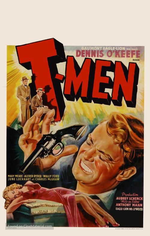 T-Men - Belgian Movie Poster