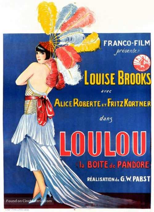 Die Büchse der Pandora - Belgian Movie Poster