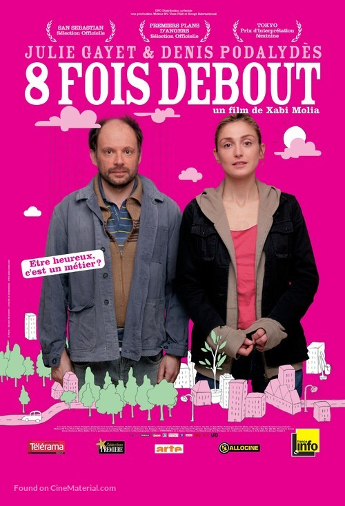 Huit fois debout - French Movie Poster