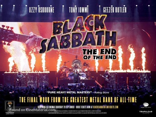 Black Sabbath the End of the End - British Movie Poster