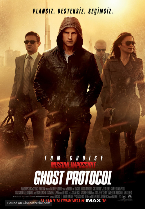 Mission: Impossible - Ghost Protocol - Turkish Movie Poster