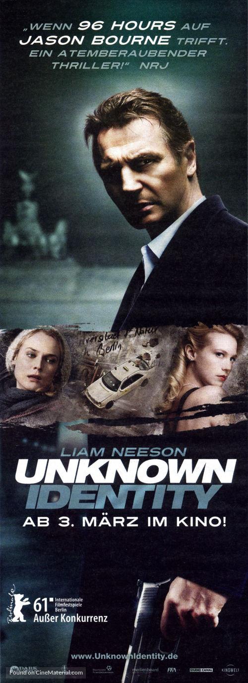 Unknown - German Movie Poster