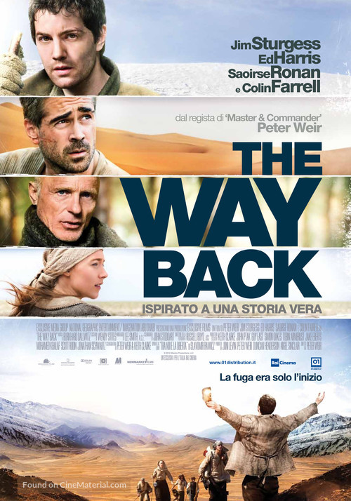 The Way Back - Italian Movie Poster