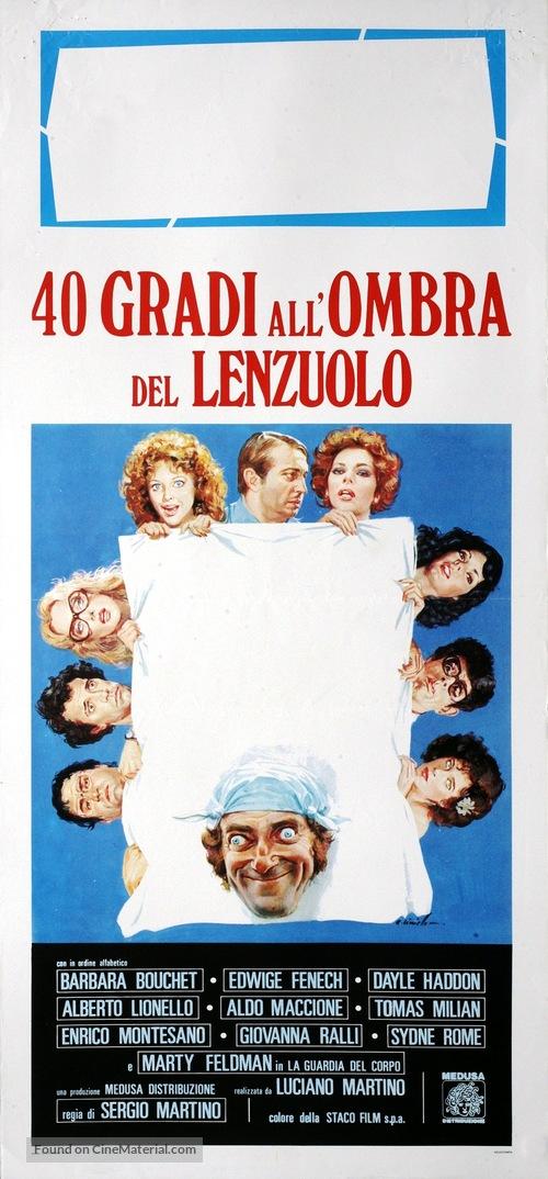 40 gradi all'ombra del lenzuolo - Italian Movie Poster