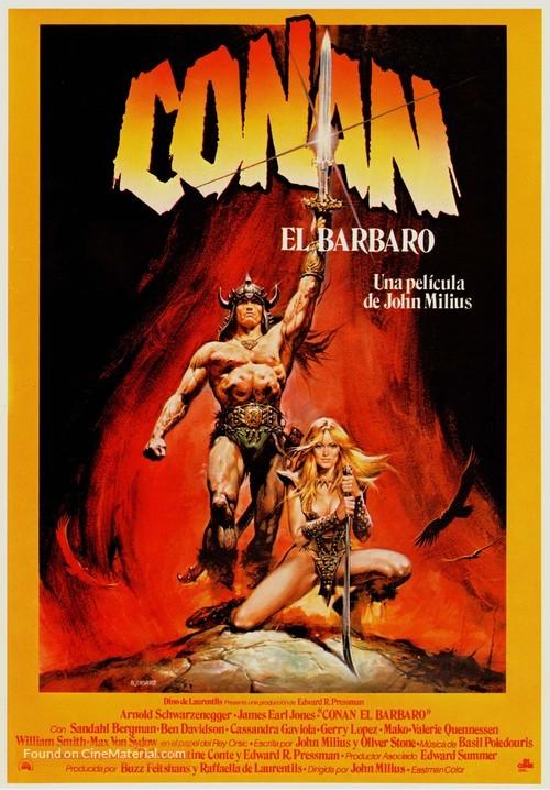 Conan The Barbarian - Spanish Movie Poster