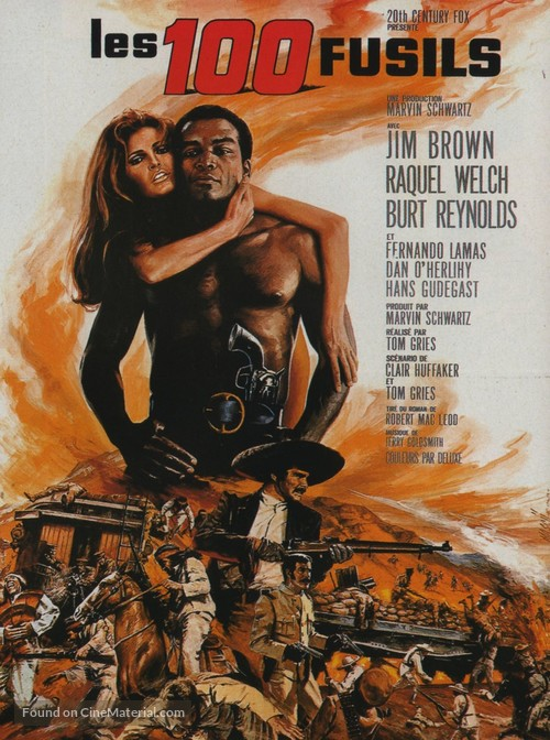 100 Rifles - French Movie Poster
