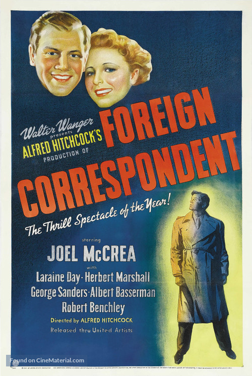 Foreign Correspondent - Movie Poster