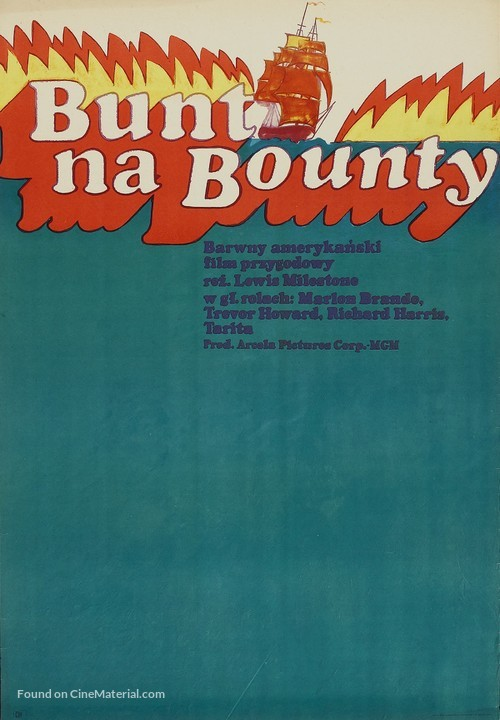 Mutiny on the Bounty - Polish Movie Poster