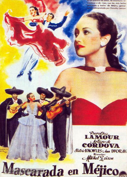 Masquerade in Mexico - Spanish Movie Poster