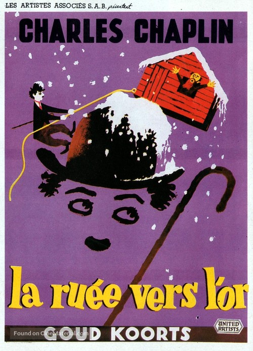 The Gold Rush - Belgian Movie Poster