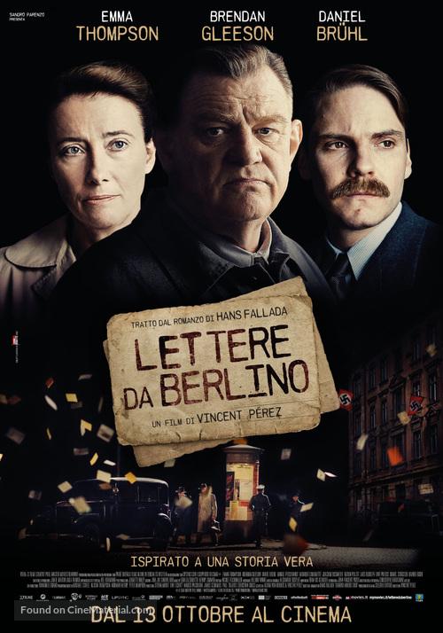 Alone in Berlin - Italian Movie Poster