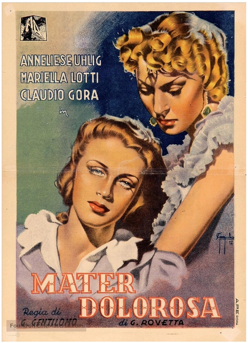 Mater dolorosa - Italian Movie Poster