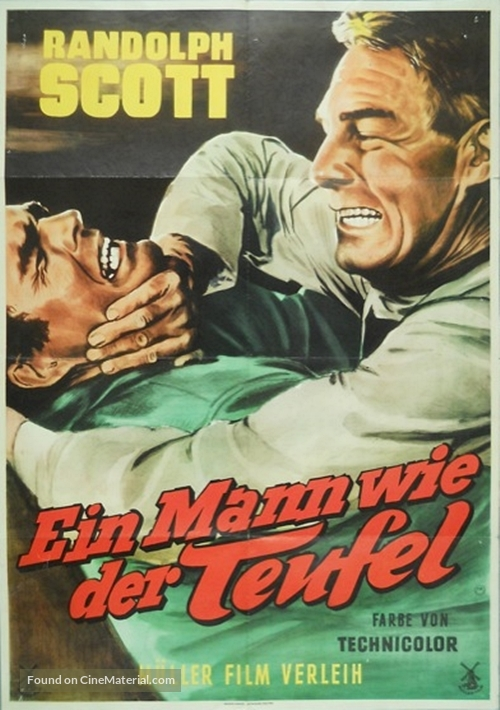 A Lawless Street - German Movie Poster