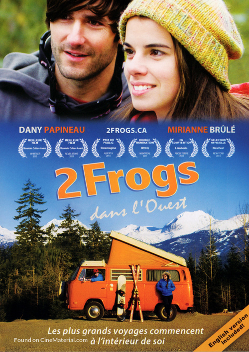 2 Frogs dans l'Ouest - Canadian DVD movie cover