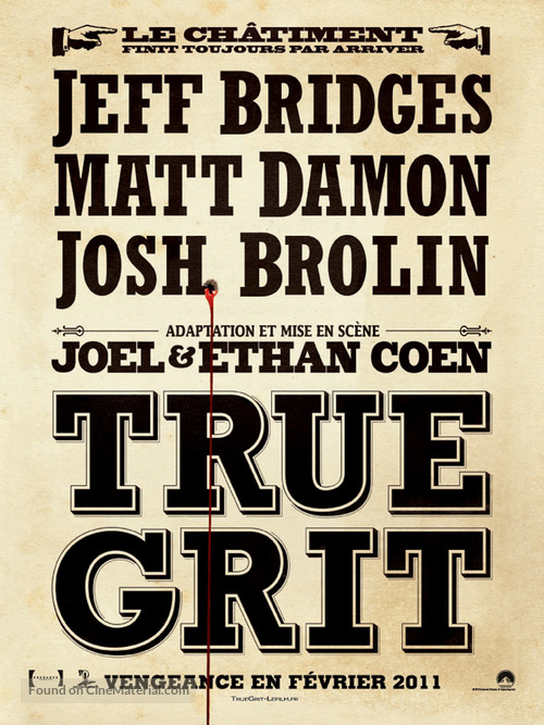True Grit - French Movie Poster