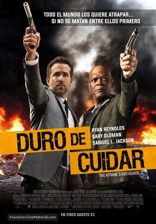 The Hitman S Bodyguard 2017 Colombian Movie Poster