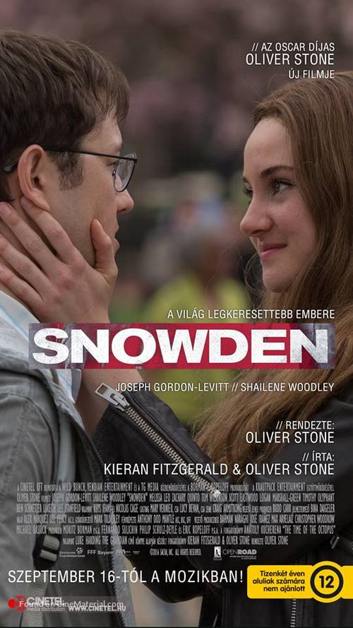 Snowden - Hungarian Movie Poster