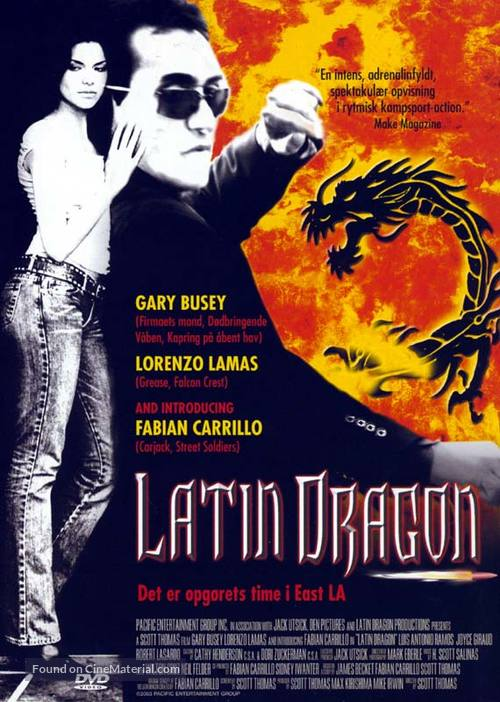 Latin Dragon - Danish poster