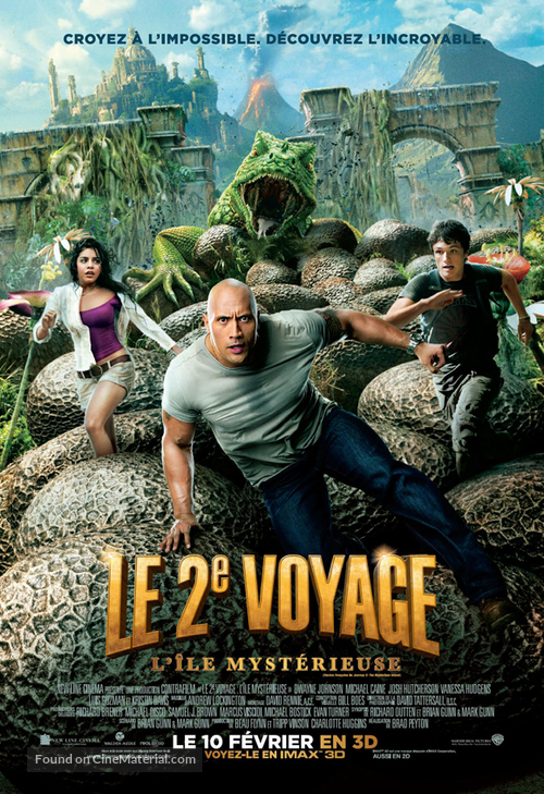 Journey 2: The Mysterious Island - Canadian Movie Poster