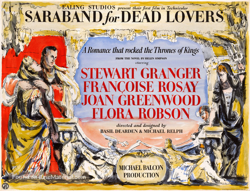 Saraband for Dead Lovers - British Movie Poster