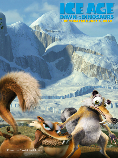 Ice Age Dawn Of The Dinosaurs 2009 Movie Poster