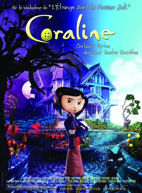 Coraline - French Movie Poster