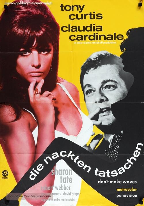 Don't Make Waves - German Movie Poster