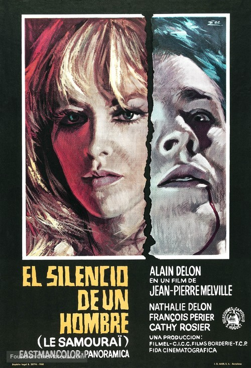 Le samouraï Spanish movie poster